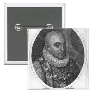 Retrato de Michel de Montaigne Pin Cuadrado
