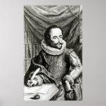 Retrato de Miguel de Cervantes Saavedra Póster
