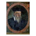 Retrato de Miguel de Nostradame Tarjeta De Felicitación