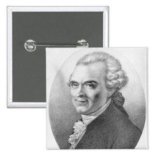 Retrato de Miguel-Jean Sedaine Pin Cuadrada 5 Cm