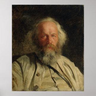 Retrato de Mikhail Alexandrovich Bakunin 1871 Póster