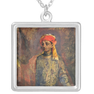 Retrato de Mikhail Kuzmin, 1911-12 Collar Plateado