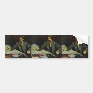 Retrato de Mikhail Nesterov- de Otto Shmidt Etiqueta De Parachoque