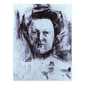 Retrato de Mikhail Vrubel- de Valentina Usoltseva Tarjeta Postal