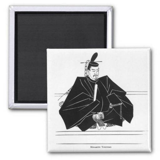Retrato de Minamoto Yoritomo Imán Cuadrado