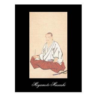 Retrato de Miyamoto Musashi, período de Edo Postal