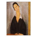 Retrato de Modigliani Amedeo Felicitacion
