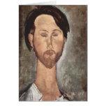 Retrato de Modigliani Amedeo Felicitación