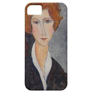 Retrato de Modigliani Amedeo iPhone 5 Carcasas