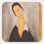 Retrato de Modigliani Amedeo Colcomanias Cuadradas Personalizadas