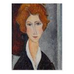 Retrato de Modigliani Amedeo Postal