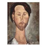 Retrato de Modigliani Amedeo Postales
