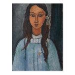 Retrato de Modigliani Amedeo Tarjeta Postal