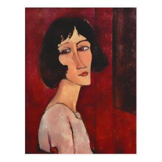 Retrato de Modigliani de la postal de Magherita