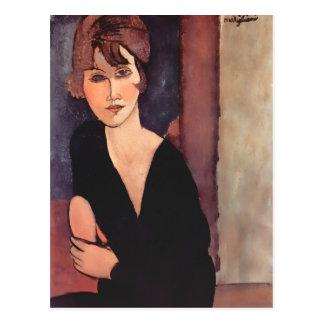 Retrato de Modigliani de señora Reynouard Postcard Tarjetas Postales