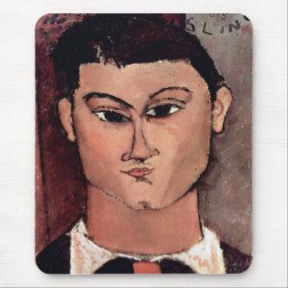 Retrato de Moiise Kiesling de Amedeo Modigliani Alfombrillas De Ratón