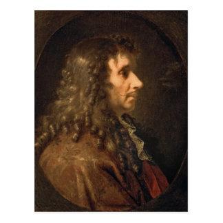 Retrato de Moliere 1660 Postales
