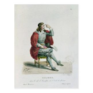 Retrato de Moliere en el papel de Arnolfe Postal