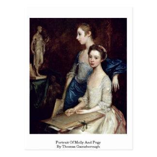 Retrato de Molly y de Pegy de Thomas Gainsborough Postal
