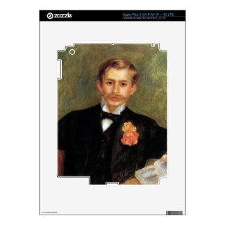 Retrato de Monsier Germana de Pedro Renoir iPad 3 Pegatinas Skins
