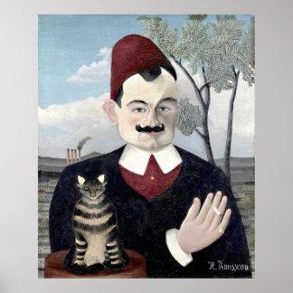 Retrato de Monsieur X, bella arte de Henri Póster