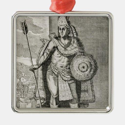 Retrato de Montezuma II Ornamentos De Reyes Magos