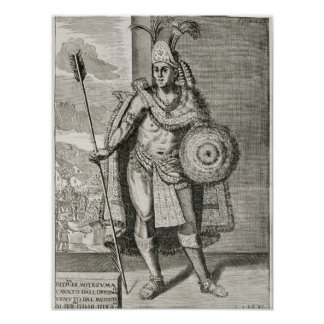 Retrato de Montezuma II Poster