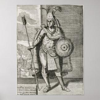 Retrato de Montezuma II Póster