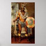 Retrato de Montezuma II Posters
