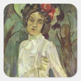 Retrato de Musatov- del vencedor de Nadezhda Pegatina Cuadrada