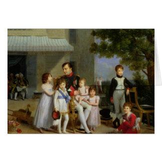 Retrato de Napoleon Bonaparte con sus sobrinos Tarjeta De Felicitación