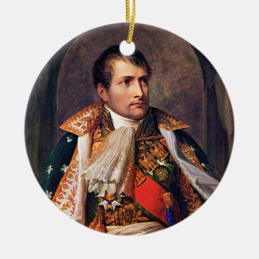 Retrato de Napoleon Bonaparte de Andrea Appiani Adorno Navideño Redondo De Cerámica