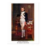 Retrato de Napoleon de Jacques-Louis David Postal