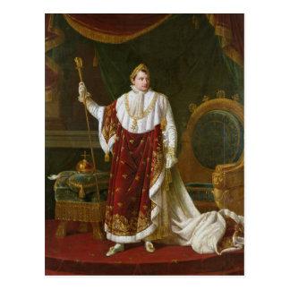 Retrato de Napoleon en sus trajes de la coronación Postal