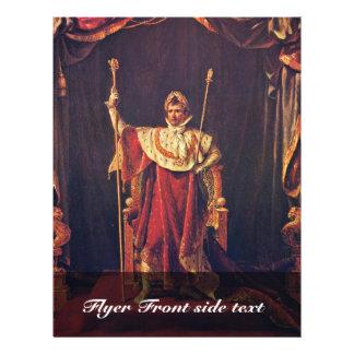 Retrato de Napoleon en trajes imperiales de David  Tarjetas Publicitarias