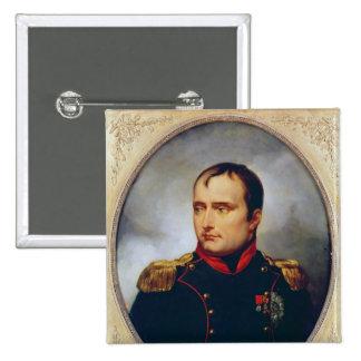 Retrato de Napoleon I, 1815 Pin Cuadrado