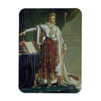 Retrato de Napoleon I en sus trajes de la coronaci Rectangle Magnet
