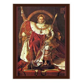 Retrato de Napoleon I Por los Dom de Ingres Jean Tarjeta Postal