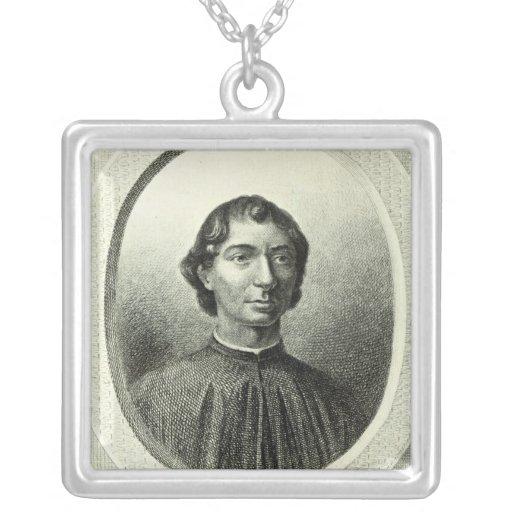 Retrato de Niccolo Machiavelli Colgantes