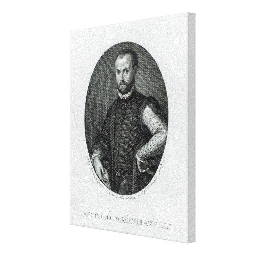 Retrato de Niccolo Machiavelli Impresiones En Lona Estiradas