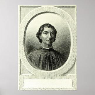 Retrato de Niccolo Machiavelli Poster