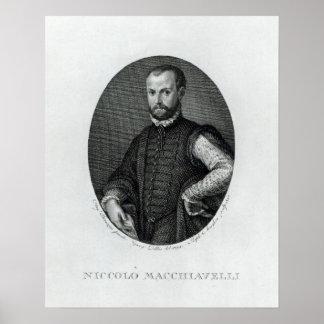 Retrato de Niccolo Machiavelli Posters