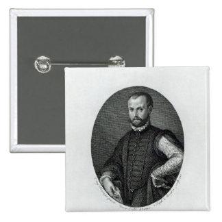 Retrato de Niccolo Machiavelli Pin Cuadrado