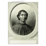Retrato de Niccolo Machiavelli Tarjetón
