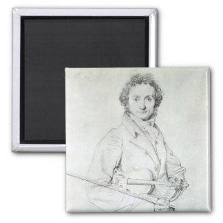 Retrato de Niccolo Paganini 1819 Imán Cuadrado