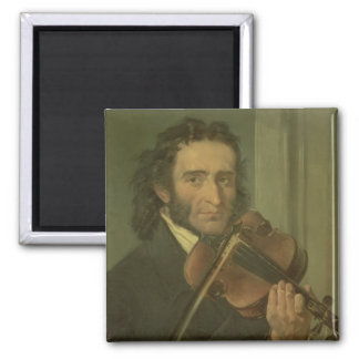 Retrato de Niccolo Paganini Imán Cuadrado