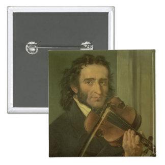 Retrato de Niccolo Paganini Pin Cuadrada 5 Cm