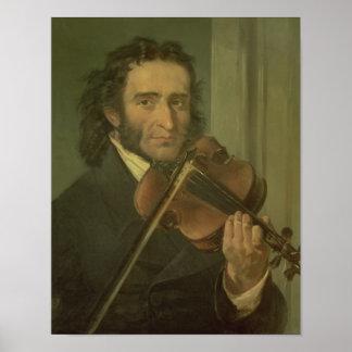 Retrato de Niccolo Paganini Póster