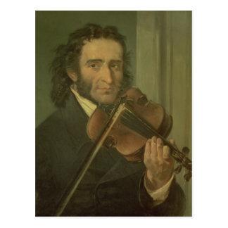 Retrato de Niccolo Paganini Postal