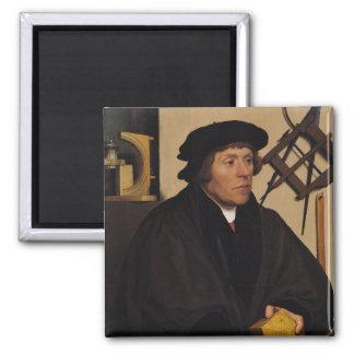 Retrato de Nicholas Kratzer 1528 Imán Cuadrado